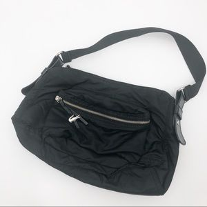 Lacoste Croc in the City black nylon bag purse